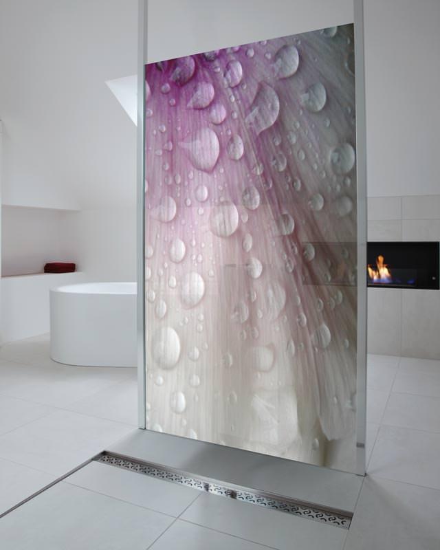 fotodesign glasduschw nde f r visuelle frische im bad. Black Bedroom Furniture Sets. Home Design Ideas