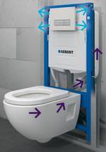 Geruchsabsaugung direkt aus der WC-Keramik via Geberit DuoFresh