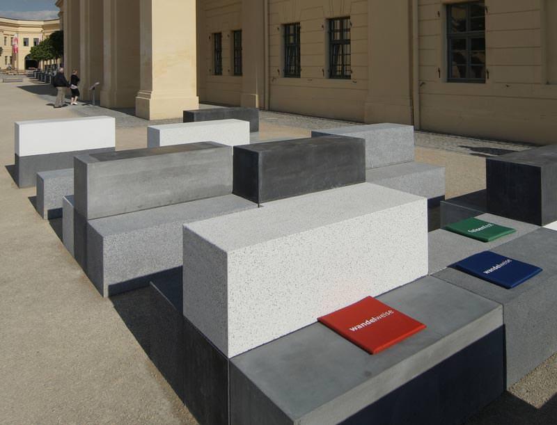 sonderbauteile aus beton von kann auf der buga public. Black Bedroom Furniture Sets. Home Design Ideas