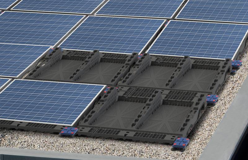 sieben pv montagesysteme f r flach und industried cher photovoltaik systeme f r geringe. Black Bedroom Furniture Sets. Home Design Ideas