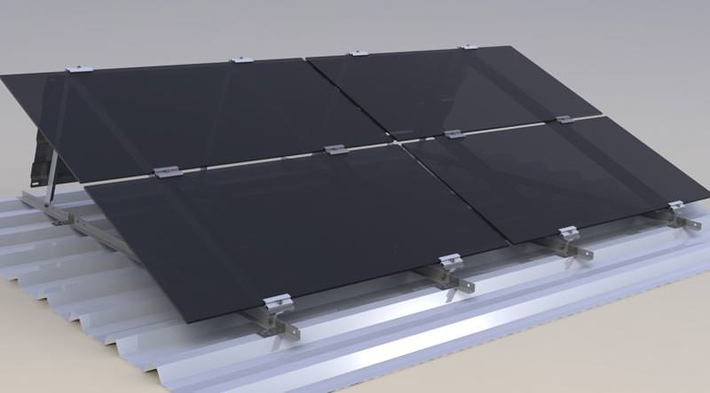 sieben pv montagesysteme f r flach und industried cher. Black Bedroom Furniture Sets. Home Design Ideas