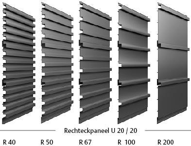neues rechteckpaneel metallschindeln und 3d optiken f r metallfassaden von laukien f r. Black Bedroom Furniture Sets. Home Design Ideas