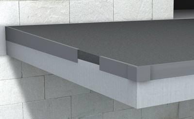 ein abschlussprofil mit drei funktionen f r balkone. Black Bedroom Furniture Sets. Home Design Ideas