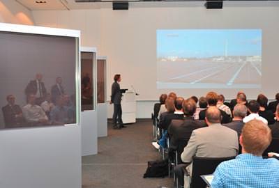 Solarfassade mit fassadenintegrierter Dünnschichttechnologie