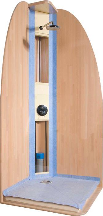 grumbach mit neuen angeboten f r flache pur duschb den und eckduschen duschelemente f r den. Black Bedroom Furniture Sets. Home Design Ideas