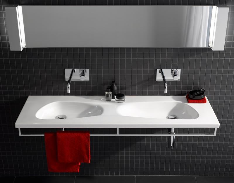 Doppelwaschtisch welle  Doppelwaschbecken Alape: Badezimmer komplettset weiss mit keramik ...