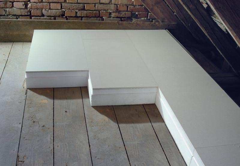 neues verbund dachbodend mmelement von knauf aus 12 5 mm gipsplatte mit impr gniertem gipskern. Black Bedroom Furniture Sets. Home Design Ideas