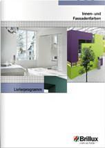 """Lieferprogramm """"Innen- und Fassadenfarben"""" von Brillux"""