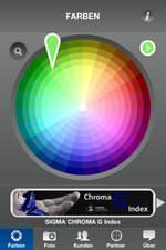 iPhone-App SIGMA ColourMate