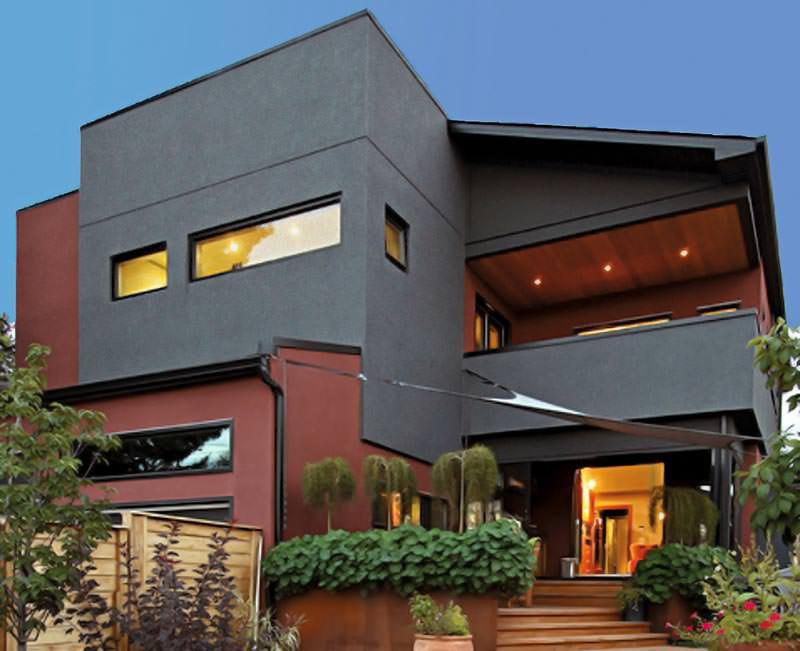 coole farbintensive fassaden selbst wenn die sonne brennt. Black Bedroom Furniture Sets. Home Design Ideas