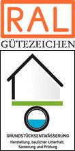 """Gütezeichen """"Grundstücksentwässerung"""" zum Schutz für Grundwasser, Boden und Gewässer"""