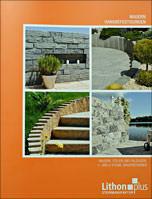"""Broschüre """"Mauern und Hangbefestigung"""" von Lithonplus"""