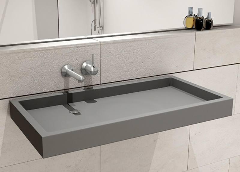 puristisch flach kantig bw90 waschtisch von hightech aus glasfaserbeton. Black Bedroom Furniture Sets. Home Design Ideas