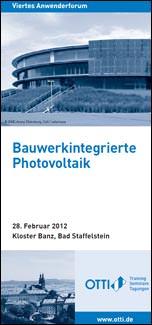 27. Symposium Photovoltaische Solarenergi