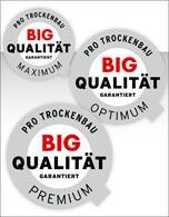 Drei Zertifikate vom Bundesverband in den Gewerken Trockenbau und Ausbau