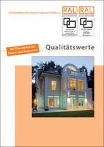 """Broschüre """"Qualitätswerte"""" von der RAL-Gütegemeinschaft Fenster und Haustüren"""