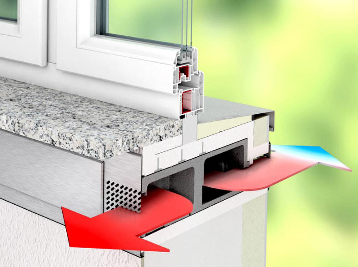 Kongenial: Fensteraustausch und Fensterbank mit dezentraler Lüftung ...