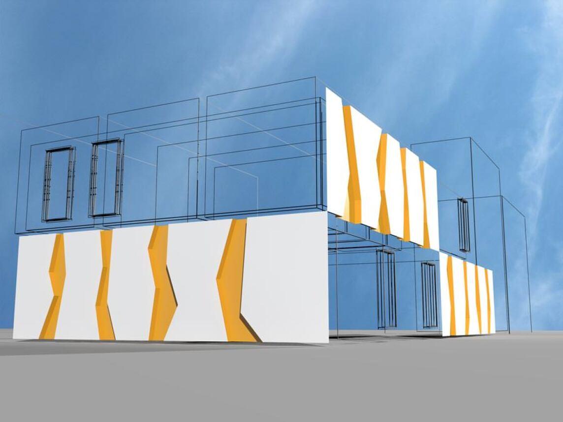 trespa stellt e neue designkonzepte f r fassaden vor. Black Bedroom Furniture Sets. Home Design Ideas