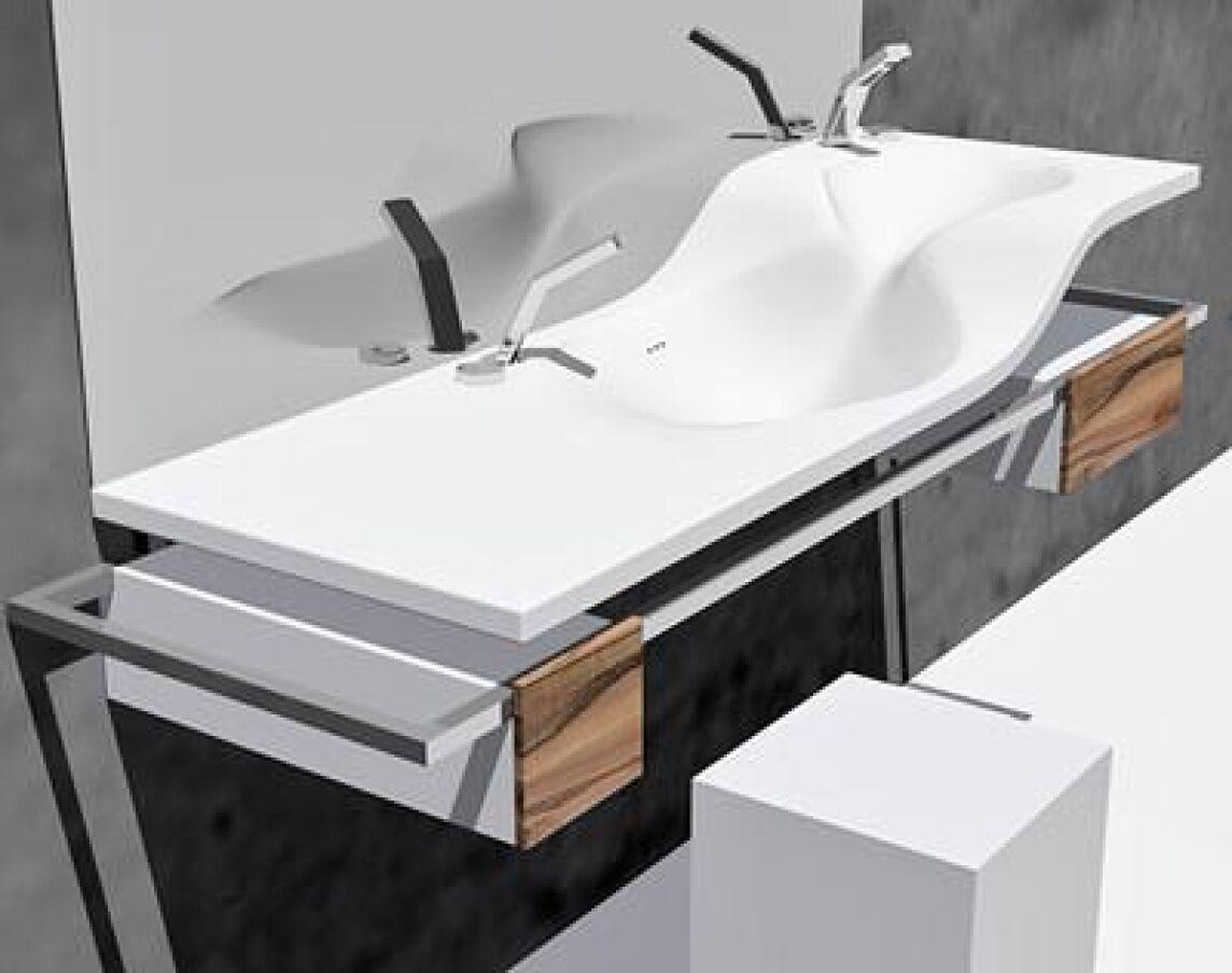 Waschtisch  VALOU: Waschtisch auf 2 Etagen | Mehrgenerationen-Waschtisch auf ...