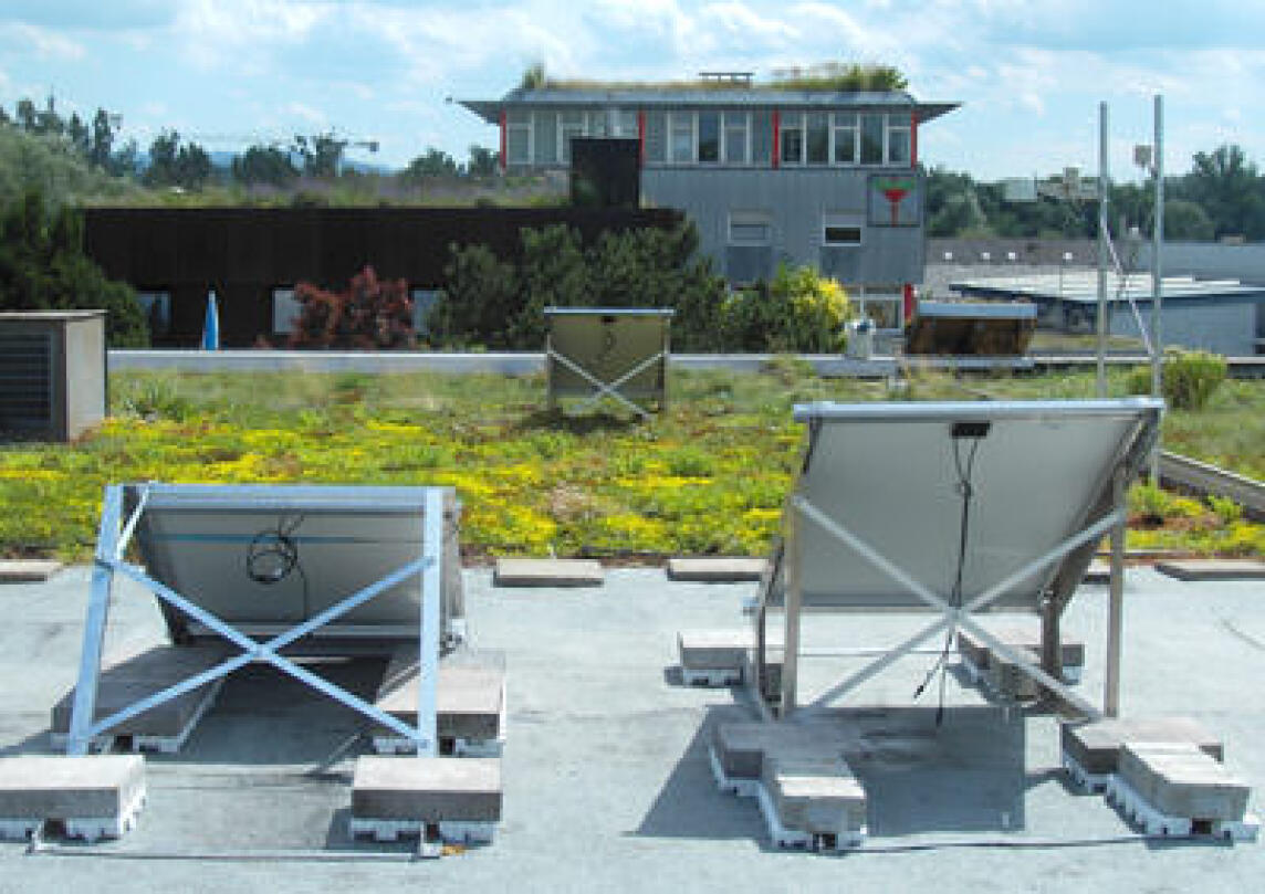 Dachbegrünung erhöht Erträge der Photovoltaik
