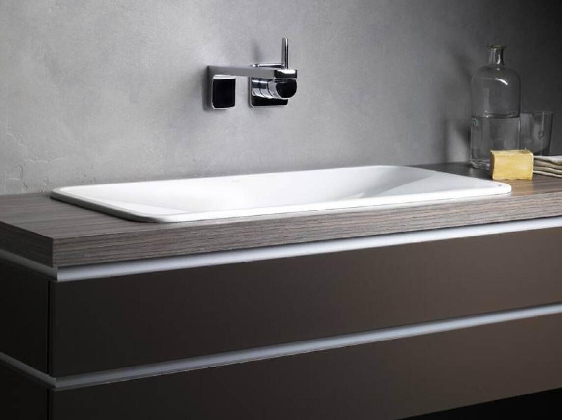 alape tangens mit der welle im strengen becken waschbecken aus glasiertem stahl als. Black Bedroom Furniture Sets. Home Design Ideas