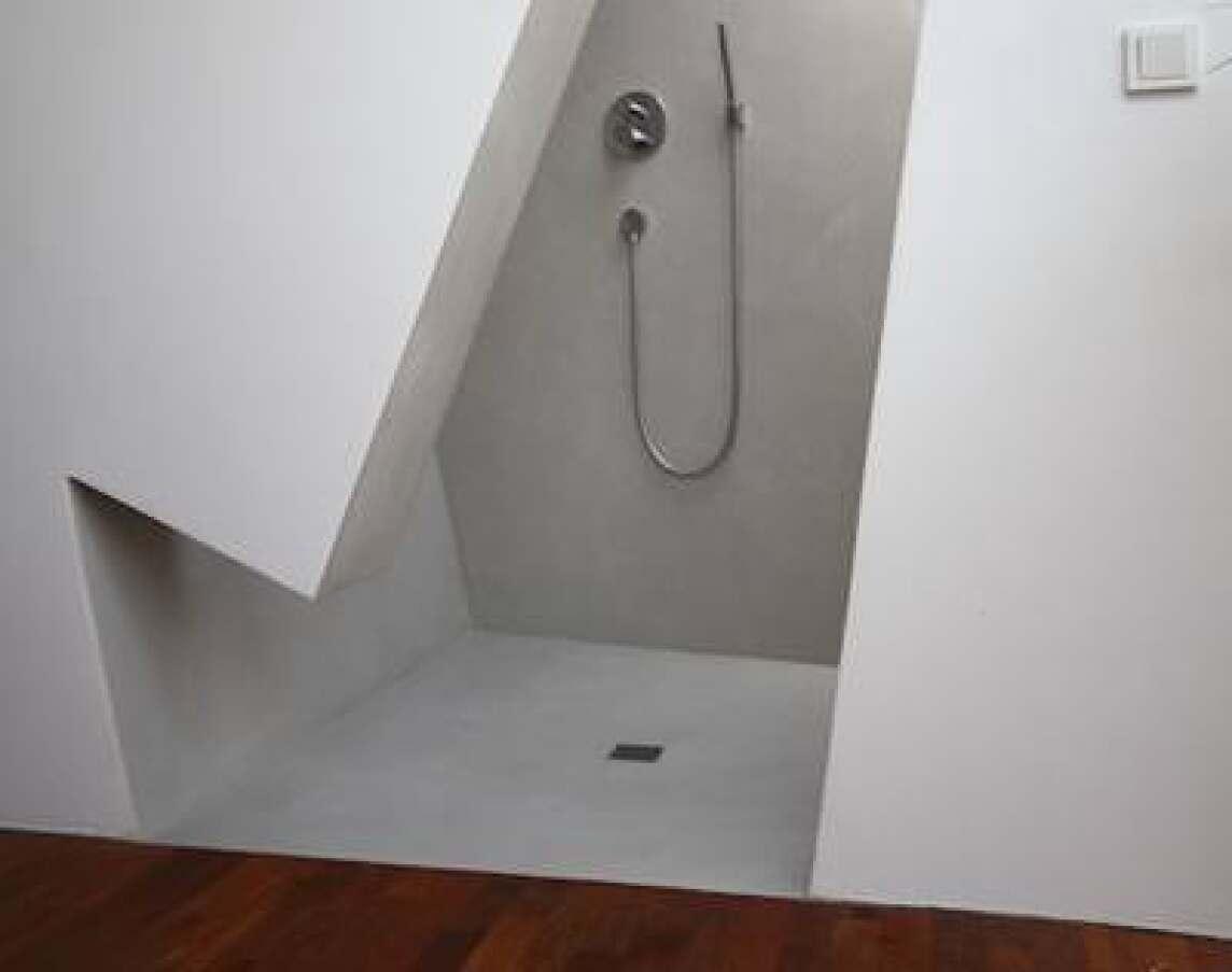 fugenlose frescotechnik mit kalkmarmorputz im modernen badambiente. Black Bedroom Furniture Sets. Home Design Ideas
