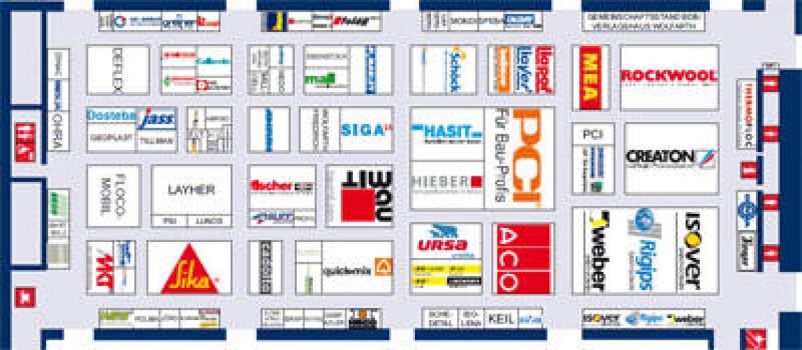 Baufachmesse BAU 2011 Halle A1, Steine / Erden