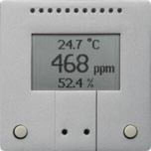 Lüftungs- und Temperaturregelung mit Kombisensor KNX AQS/TH-B-UP von Elsner