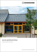 Planungs- & Anwendungsbroschüre zum Rheinzink-Klick-Leistensystem