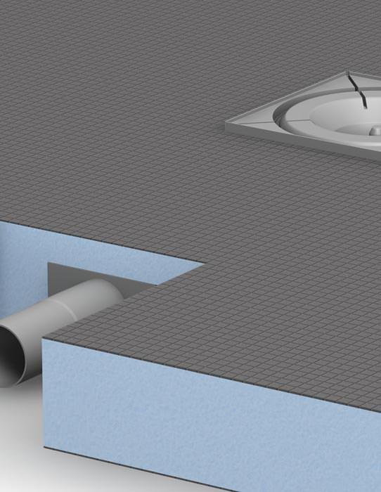 Extrem flaches Komplettsystem (65 mm) für bodengleiche Duschen von ... | {Bodengleiche duschwanne mit extra flachem ablaufsystem 60}