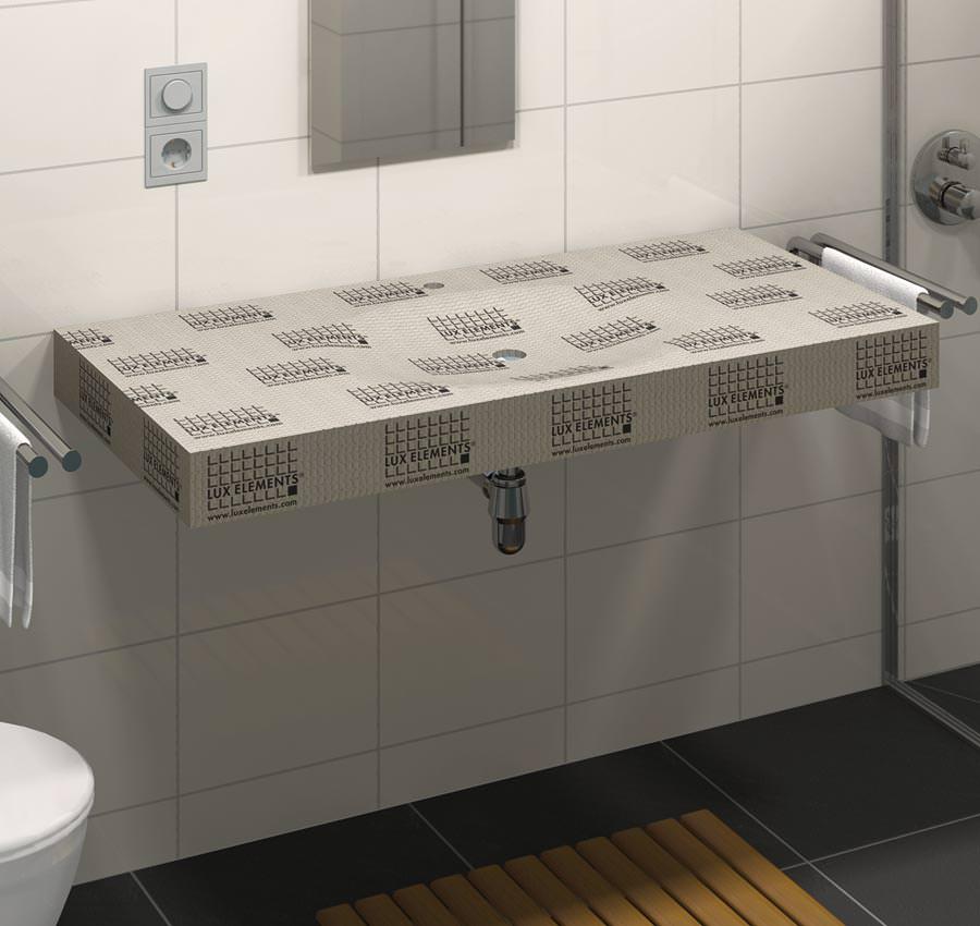 Waschtisch Gefliest : Individuelle waschtischgestaltung mit lavado von lux elements