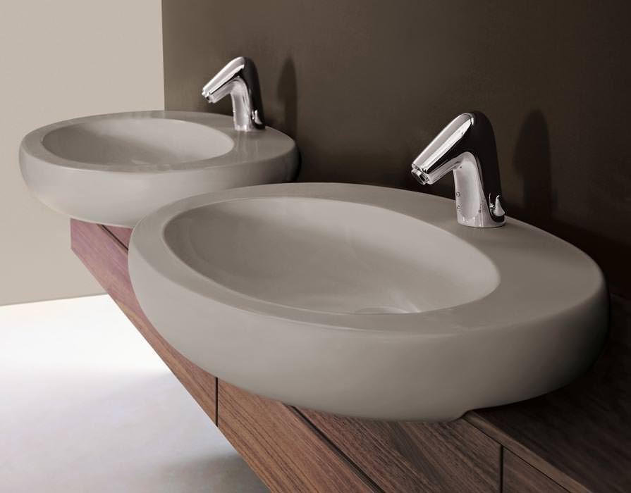 waschtisch mit schale perfect ovale waschschale aufsatz. Black Bedroom Furniture Sets. Home Design Ideas