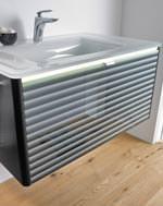 oredo waschplatz mit lichtb ndern und oberfl chen f r disco bis wohnbad. Black Bedroom Furniture Sets. Home Design Ideas