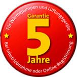 Logo: Garantieverlängerung auf 5 Jahre für Dimplex-Wärmepumpen und Lüftungsgeräte