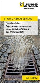 5. OWL Abwassertag bei Jung Pumpen in Steinhagen am 8. November