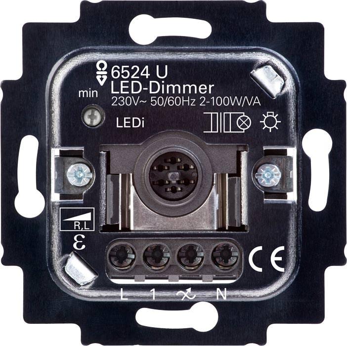 elektronischer transistor dimmer von busch jaeger f r retrofit leds. Black Bedroom Furniture Sets. Home Design Ideas