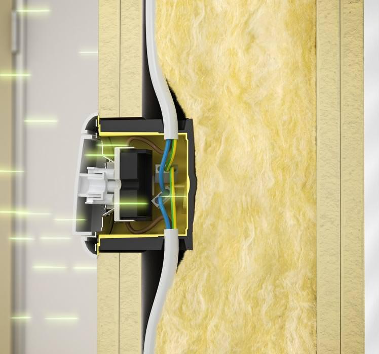 neue strahlenschutzdosen erleichtern elektroinstallation in strahlenschutzw nden. Black Bedroom Furniture Sets. Home Design Ideas