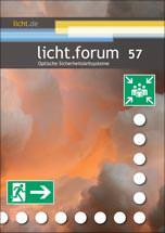 """licht.forum 57 """"Optische Sicherheitsleitsysteme"""""""