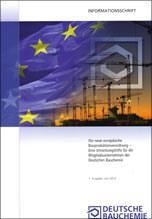 Informationsschrift zur Umsetzung der neuen Bauproduktenverordnung (BauPVO)