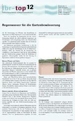 """fbr-top 12 """"Regenwasser für die Gartenbewässerung"""""""