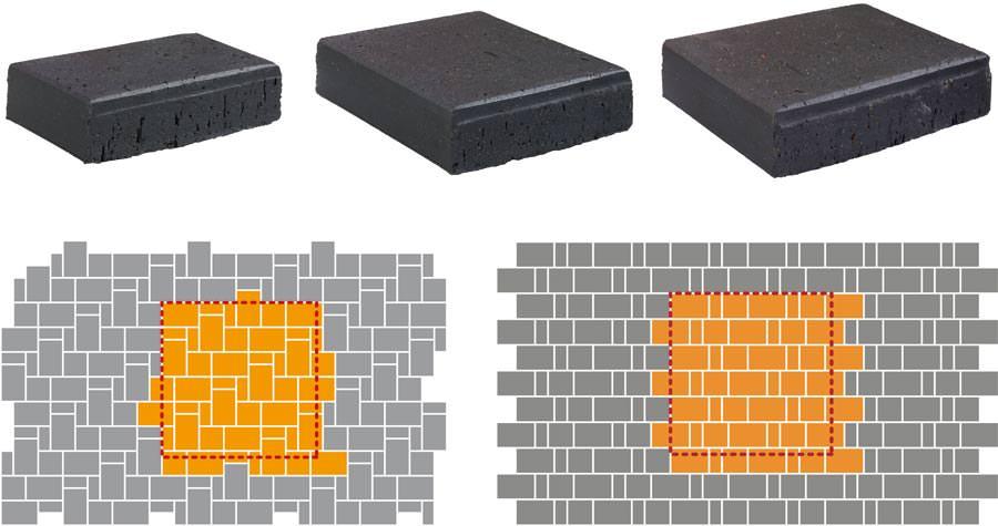 neuer formatmix f r individuelle verlegebilder mit pflasterklinkern. Black Bedroom Furniture Sets. Home Design Ideas