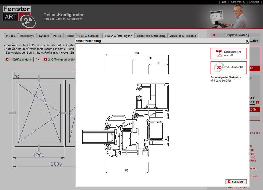 Fenster Konfigurator Software Kostenlos ~ FensterART Fenster und Türen online konfigurieren und kalkulieren