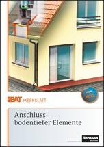"iBAT-Merkblatt ""Anschluss bodentiefer Elemente"""