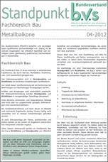 Standpunkt Metallbalkone