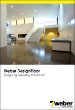 """Broschüre """"Weber DesignFloor"""" über mineralische Designböden"""