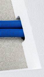 FFKu-ReMo click Rohre - Fränkische, Knauf und PFT nutzen WDVS-Dämm-Ebene für die Elektroinstallation