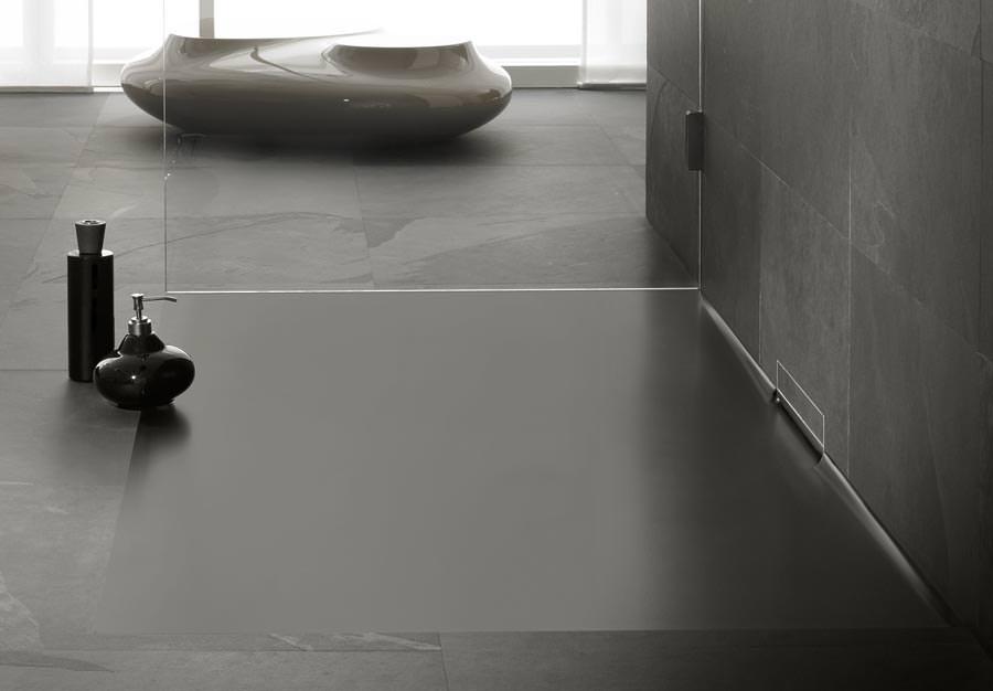 Xetis von kaldewei emaillierte duschfl che mit integriertem wandablauf - Dusche mit wandablauf ...