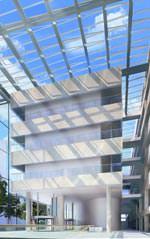 Glasdach mit dem Modularen Oberlicht-System von Velux und dem dem renommierten britischen Architekturbüro Foster + Partners
