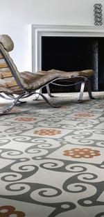 """""""Frame"""" von Ceramiche Refin unterteilt sich in vier Produktfamilien: """"Majolica"""", """"Geometric"""", """"Carpet"""" und """"Weave"""""""
