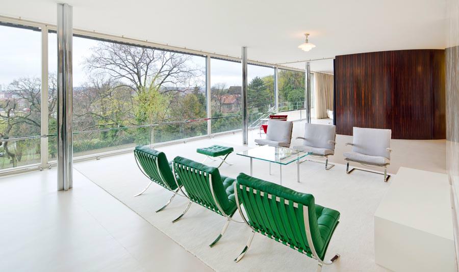 villa tugendhat kleiner rundgang durch die ikone moderner architektur. Black Bedroom Furniture Sets. Home Design Ideas